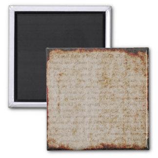 Modelo francês do papel de fundo do texto do ímã quadrado