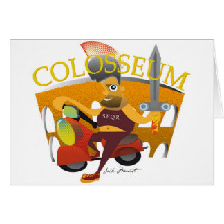 """Modelo horizontal do cartão de """"Colosseum"""" -"""