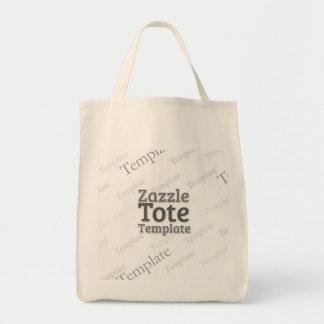 Modelo orgânico do costume da sacola do mantimento bolsa tote