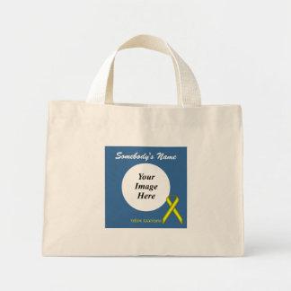 Modelo padrão amarelo da fita bolsa tote mini