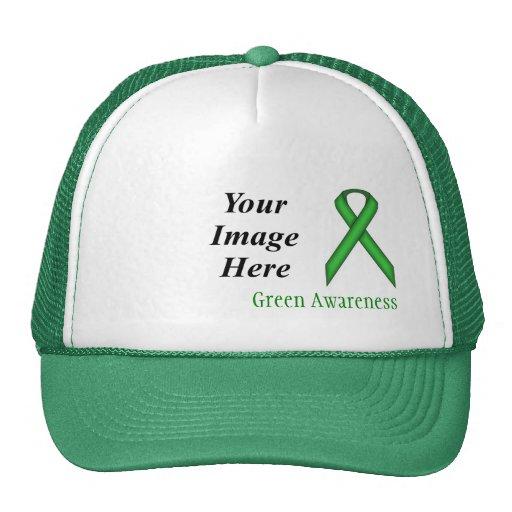 Modelo padrão verde da fita boné