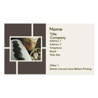 Modelo-Pedras & vela do cartão do negócio/nomeação Cartões De Visitas