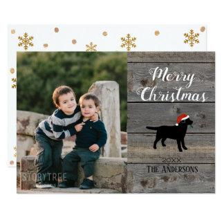 Modelo preto do cartão de Natal de Labrador