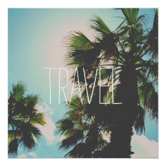 Modelo simples do viagem poster perfeito
