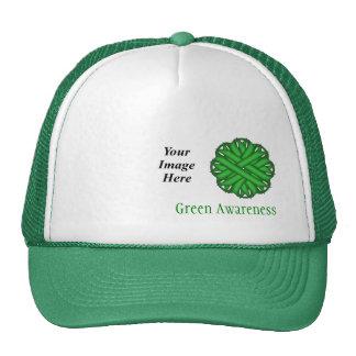 Modelo verde da fita da flor bone