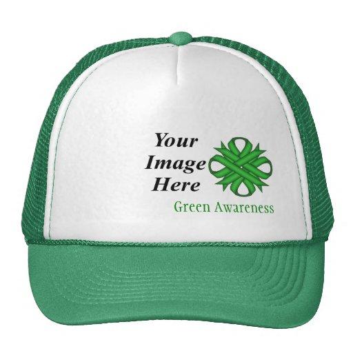 Modelo verde da fita do trevo bonés