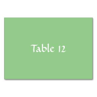 Modelo verde Tablecard de Apple