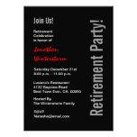 Modelo vermelho branco do preto moderno do PARTIDO Convite Personalizado