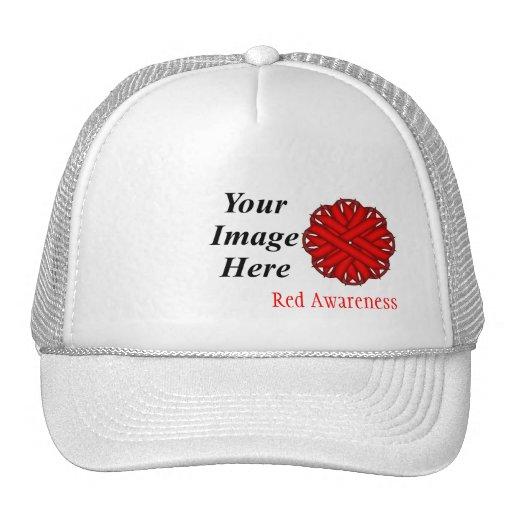Modelo vermelho da fita da flor bonés