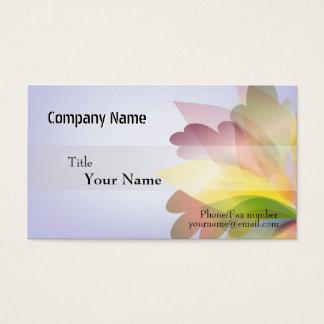 Modelos de cartão de negócios COLORIDOS da FLOR