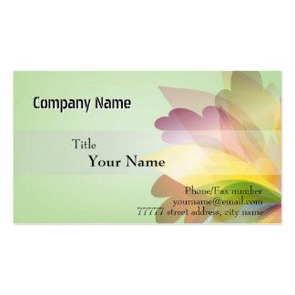 Modelos de cartão de negócios COLORIDOS da FLOR Cartão De Visita