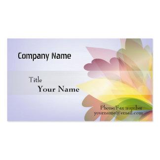 Modelos de cartão de negócios COLORIDOS da FLOR Modelos Cartões De Visita