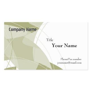 Modelos de cartão de negócios verdes da fantasia cartão de visita
