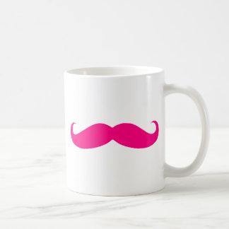 Modelos do bigode do rosa quente caneca