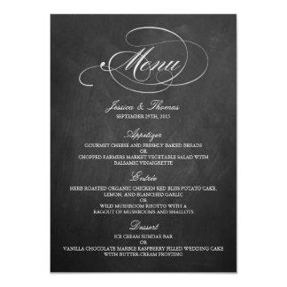 Modelos elegantes do menu do casamento do quadro convite 11.30 x 15.87cm