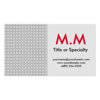 Modern black and gray geometric cartão de visita