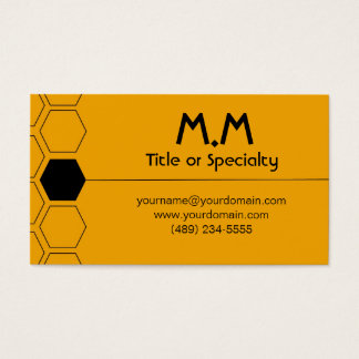 Modern geometric black and yellow cartão de visitas