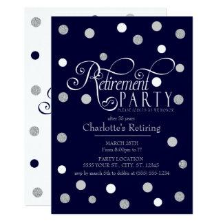 Moderno, convites de festas da aposentadoria do