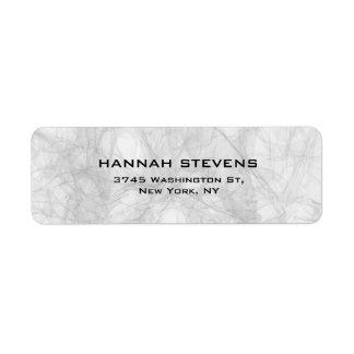 Moderno elegante cinzento liso simples etiqueta endereço de retorno