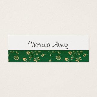Moderno minimalista do design floral personalizado cartão de visitas mini
