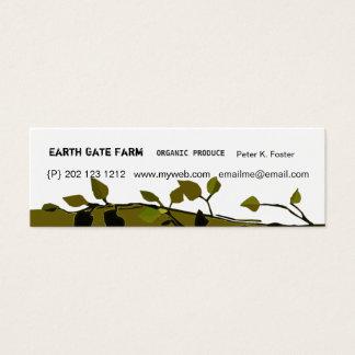 Moderno orgânico dos ramos cartão de visitas mini
