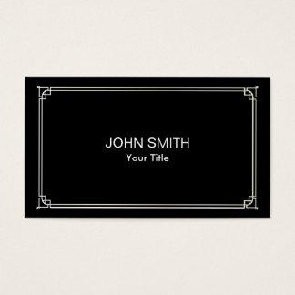 Moderno profissional preto liso quadro clássico cartão de visitas
