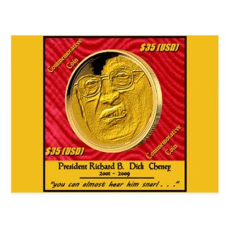 Moeda comemorativa do presidente Dick Cheney Cartão Postal
