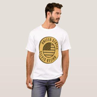 Moeda de ouro da bandeira dos Estados Unidos Tshirts