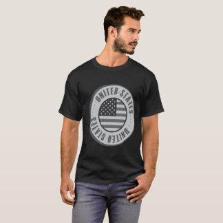 Moeda de prata da bandeira dos Estados Unidos T-shirt