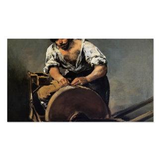 Moedor da faca de Francisco Goya- Modelos Cartão De Visita