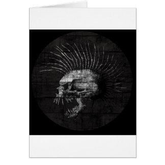 Mohawk do crânio cartão