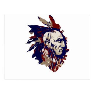 Mohawk do nativo americano cartão postal