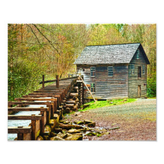 Moinho de Mingus, Great Smoky Mountains Foto Arte