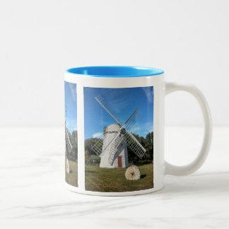 moinho de vento colorido de Jamestown RI da caneca