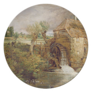 Moinho em Gillingham, Dorset, 1825-26 (óleo em can Louça De Jantar