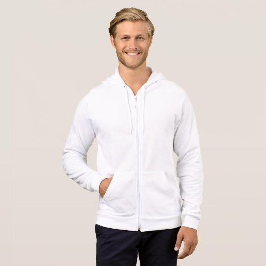 Agasalho com capuz masculino de lã de algodão, Branco