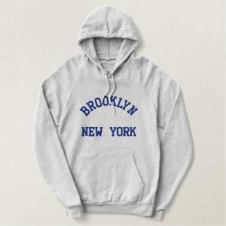 Moletom Bordado Com Capuz New York