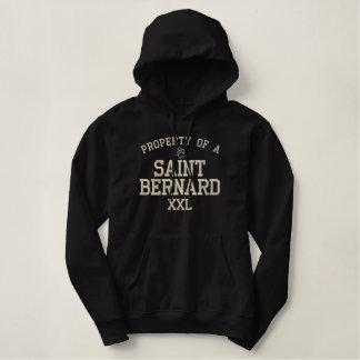 Moletom Bordado Com Capuz Propriedade de um St Bernard