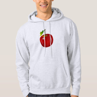 Moletom Com Capuz Apple vermelho