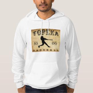 Moletom Com Capuz Basebol 1886 do Topeka Kansas