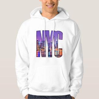 Moletom Com Capuz Skyline de NYC (escura)