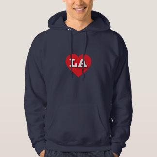 Moletom Coração vermelho de Louisiana Los Angeles - amor