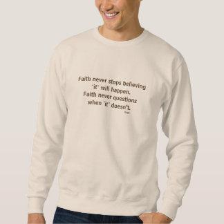 Moletom Cruz nunca masculina da camisola w/Steel da fé