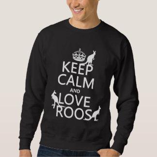 Moletom Mantenha a calma e ame Roos (os cangurus)