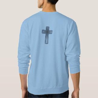Moletom Não preocupe a cruz da camisola w/Blue