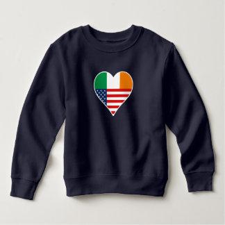 Moletom País de irlandês - America, EUA, irlandês. Heart,