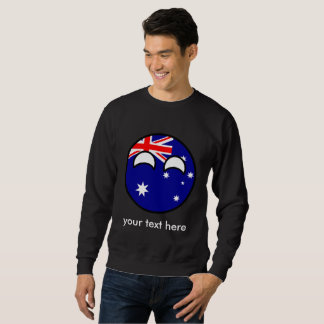 Moleton Austrália Geeky de tensão engraçada Countryball