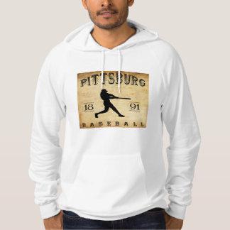 Moleton Com Capuz Basebol 1891 de Pittsburg Kansas