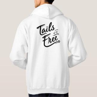 Moleton Com Capuz Caudas do hoodie branco livre