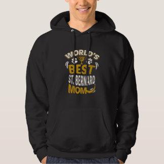 Moleton Com Capuz Gráfico da mamã do St Bernard do mundo o melhor